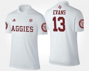 White #13 Mike Evans College Polo Men's Texas A&M