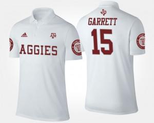 Myles Garrett College Polo Men's #15 Texas A&M Aggies White