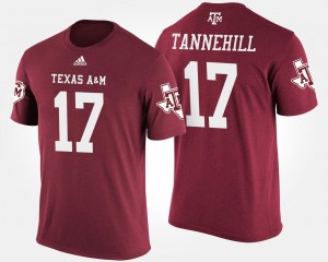 Ryan Tannehill College T-Shirt For Men's A&M #17 Maroon