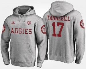 Texas A&M University For Men's #17 Ryan Tannehill College Hoodie Gray
