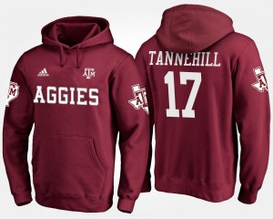 #17 Ryan Tannehill College Hoodie Maroon Mens Texas A&M