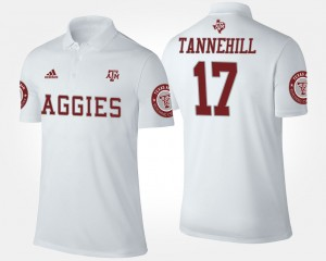 Ryan Tannehill College Polo A&M Men White #17