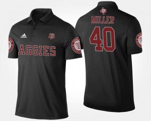 For Men's Von Miller College Polo #40 Black Texas A&M Aggies