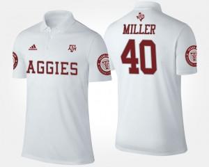 #40 Aggie Von Miller College Polo Men's White