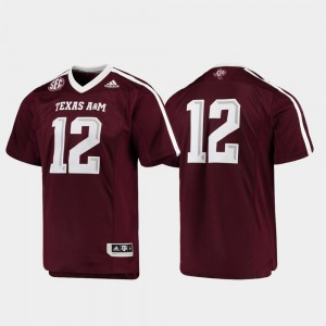 Football #12 College Jersey Maroon Premier Texas A&M Men's