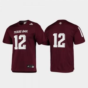 Football For Men Replica Maroon TAMU College Jersey #12