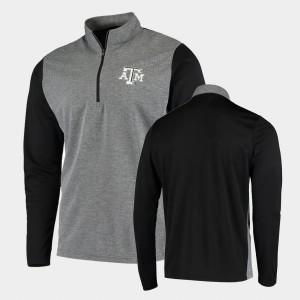 Quarter-Zip For Men's College Jacket Black Texas A&M UPF