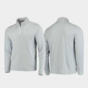 Men College Jacket Texas A&M University Quarter-Zip Performance Gameday Gray