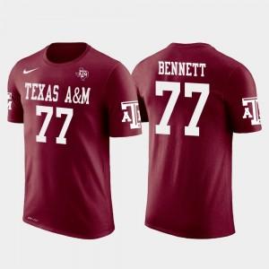 A&M For Men's Philadelphia Eagles Football Future Stars Crimson #77 Michael Bennett College T-Shirt