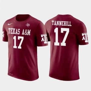 Miami Dolphins Football Crimson Future Stars For Men Ryan Tannehill College T-Shirt #17 Texas A&M University