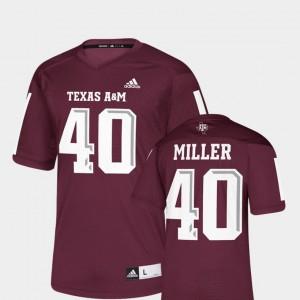 #40 Men's Replica Maroon Texas A&M Aggies Von Miller College Jersey NFLPA Alumni Chase