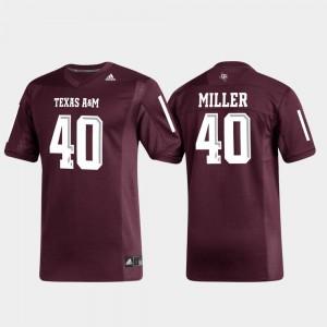 Replica #40 Alumni Football Maroon Aggies Von Miller College Jersey Men