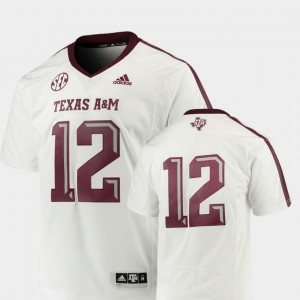 #12 Football White For Men's College Jersey Premier Texas A&M Aggies
