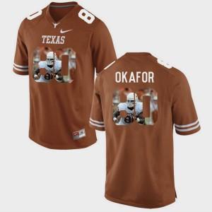 #80 Brunt Orange University of Texas Alex Okafor College Jersey Men's Pictorial Fashion