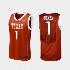 Burnt Orange #1 Replica UT Men Andrew Jones College Jersey Basketball