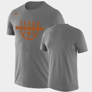Performance Basketball College T-Shirt UT Gray Drop Legend Men's