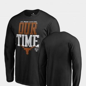 UT College T-Shirt Counter Long Sleeve Men Black 2019 Sugar Bowl Bound