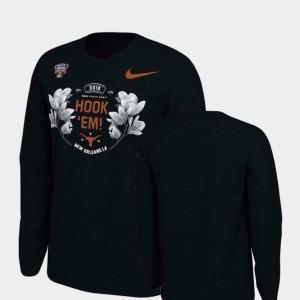 Verbiage Long Sleeve College T-Shirt Longhorns Black 2019 Sugar Bowl Bound Men