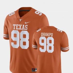 For Men Brian Orakpo College Jersey Orange #98 UT Game Football