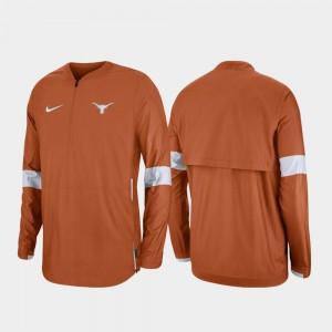 University of Texas College Jacket For Men Burnt Orange 2019 Coaches Sideline Quarter-Zip