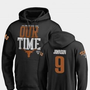 Mens University of Texas 2019 Sugar Bowl Bound Counter Collin Johnson College Hoodie Black #9