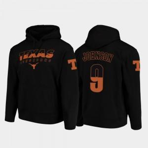 Wedge Performance Football Pullover Longhorns Collin Johnson College Hoodie Mens #9 Black