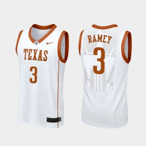 University of Texas White Replica Courtney Ramey College Jersey #3 Basketball Mens