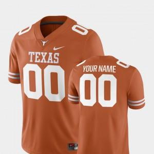College Custom Jerseys Texas Orange #00 UT 2018 Game For Men Football