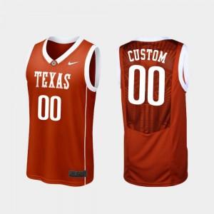Basketball College Customized Jersey Burnt Orange #00 Replica Texas Longhorns For Men