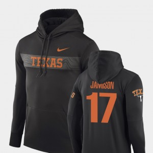 D'Shawn Jamison College Hoodie #17 Anthracite Men's Sideline Seismic Football Performance University of Texas