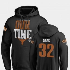 2019 Sugar Bowl Bound Longhorns Daniel Young College Hoodie Counter Black #32 Men