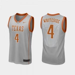 Replica For Men #4 Basketball Drayton Whiteside College Jersey Gray University of Texas