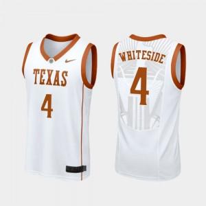 Mens Basketball Texas Longhorns Replica White #4 Drayton Whiteside College Jersey
