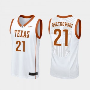White Basketball #21 Replica Dylan Osetkowski College Jersey University of Texas Men's
