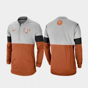 Football Half-Zip Rivalry For Men's Gray Texas Orange College Jacket Longhorns