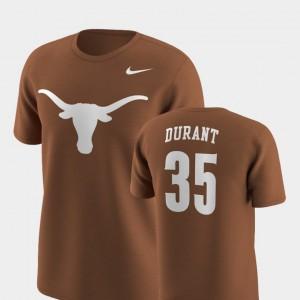 Texas Orange Men Texas Longhorns Future Stars #35 Replica Kevin Durant College T-Shirt