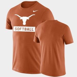 Orange Drop Legend University of Texas Men College T-Shirt Performance Softball