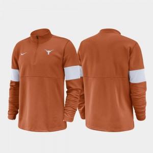 University of Texas Men 2019 Coaches Sideline Half-Zip Performance College Jacket Texas Orange