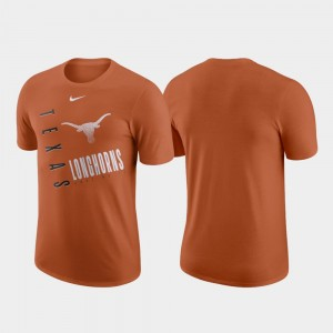 Just Do It College T-Shirt Longhorns Men Performance Cotton Texas Orange