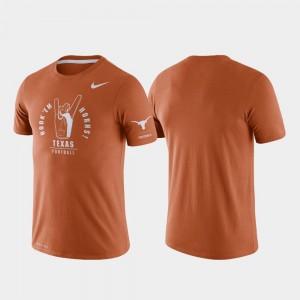 Texas Longhorns For Men's Rivalry Tri-Blend Performance College T-Shirt Texas Orange