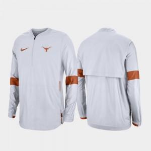 Quarter-Zip For Men White 2019 Coaches Sideline University of Texas College Jacket