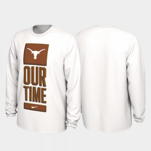 2020 March Madness UT Our Time Bench Legend White College T-Shirt Men's