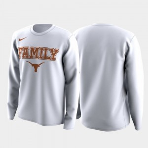 College T-Shirt Texas Longhorns March Madness Legend Basketball Long Sleeve Family on Court White For Men's