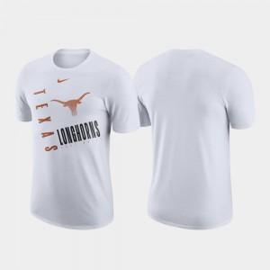 White College T-Shirt Longhorns Just Do It Performance Cotton Men's
