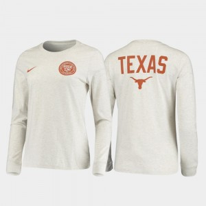 UT College T-Shirt White Rivalry Men Statement Long Sleeve