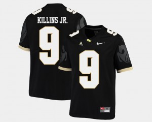 Black Football Adrian Killins Jr. College Jersey For Men UCF #9 American Athletic Conference