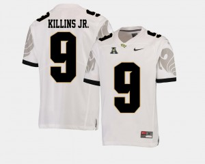 Adrian Killins Jr. College Jersey White #9 American Athletic Conference UCF Football Men's