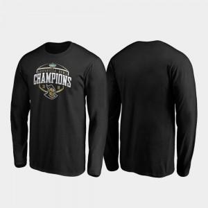 Corner Long Sleeve Black UCF Men's College T-Shirt 2019 Gasparilla Bowl Champions