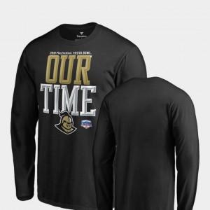 For Men Counter Long Sleeve Black UCF College T-Shirt 2019 Fiesta Bowl Bound