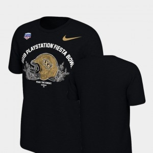 Helmet For Men's 2019 Fiesta Bowl Bound College T-Shirt Black University of Central Florida